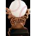 NEW Baseball Ribbon Resin